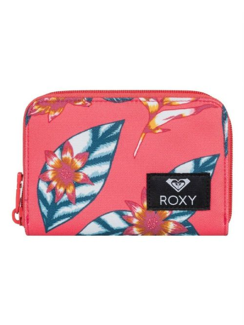 ROXY WOMENS PURSE.ZIPPED DEAR HEART PINK FLOWER COIN CARD MONEY WALLET 9W 18MK